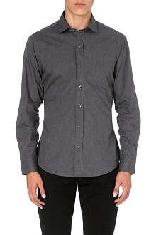 RALPH LAUREN BLACK LABEL Spread-collar single-cuff shirt