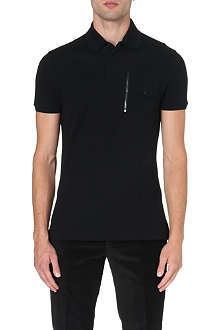 RALPH LAUREN BLACK LABEL Moto polo shirt