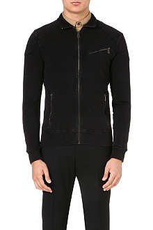 RALPH LAUREN BLACK LABEL Moto stretch-cotton jacket