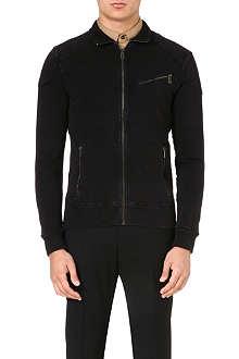 RALPH LAUREN BLACK LABEL Moto stretch-cotton jacket