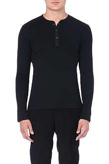RALPH LAUREN BLACK LABEL Henley cotton top