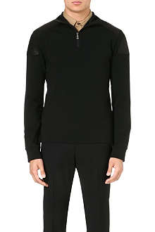 RALPH LAUREN BLACK LABEL Long-sleeved stretch-cotton top