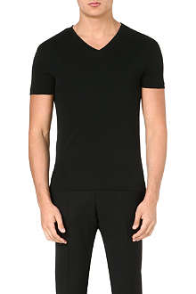 RALPH LAUREN BLACK LABEL Short-sleeved cotton-jersey t-shirt