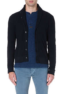 RALPH LAUREN BLACK LABEL Shawl-collar knitted cardigan
