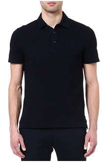 RALPH LAUREN BLACK LABEL Stretch-cotton mesh polo shirt