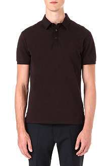 RALPH LAUREN BLACK LABEL Cotton-mesh contrast collar polo shirt