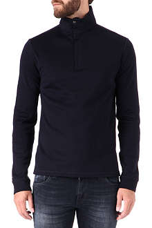 RALPH LAUREN BLACK LABEL Popper-neck knitted jumper