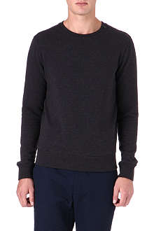 RALPH LAUREN BLACK LABEL Fleece crewneck sweatshirt