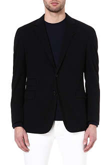 RALPH LAUREN BLACK LABEL Single-breasted cotton blazer
