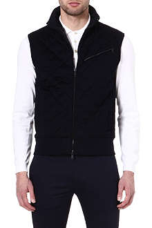 RALPH LAUREN BLACK LABEL Quilted cotton gilet