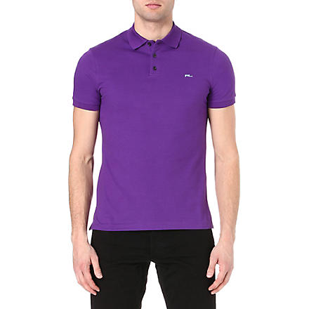 RALPH LAUREN BLACK LABEL Logo polo shirt (Purple