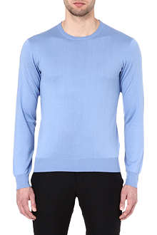 RALPH LAUREN BLACK LABEL Crew-neck cotton jumper