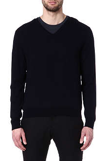 RALPH LAUREN BLACK LABEL V-neck knitted jumper