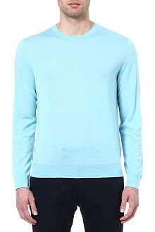 RALPH LAUREN BLACK LABEL Wool and cashmere-blend jumper