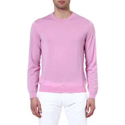 RALPH LAUREN BLACK LABEL Wool and cashmere-blend jumper (Pink