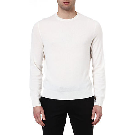 RALPH LAUREN BLACK LABEL Cashmere crew-neck jumper (Rail white-soli