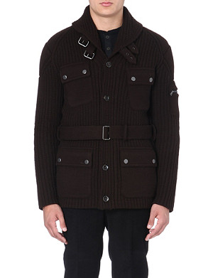 RALPH LAUREN BLACK LABEL Four-pocket knitted jacket