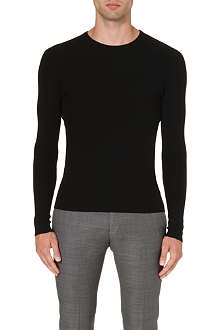 RALPH LAUREN BLACK LABEL Crew-neck ribbed wool jumper