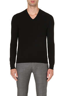 RALPH LAUREN BLACK LABEL V-neck wool jumper