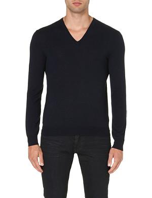 RALPH LAUREN BLACK LABEL V-neck wool jumper
