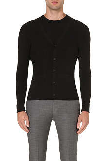 RALPH LAUREN BLACK LABEL V-neck ribbed wool cardigan