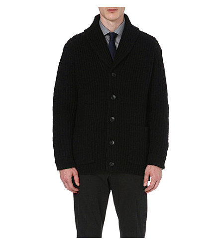 RALPH LAUREN BLACK LABEL Shawl collar cardigan (Black