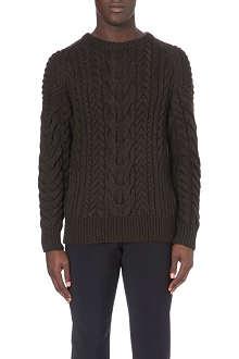 RALPH LAUREN BLACK LABEL Cable-knit jumper