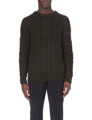 RALPH LAUREN BLACK LABEL Cable-knit jumper