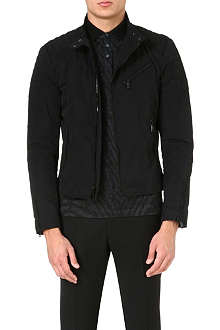 RALPH LAUREN BLACK LABEL Long-sleeved biker jacket