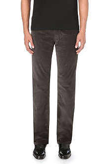 RALPH LAUREN BLACK LABEL Straight-fit corduroy trousers