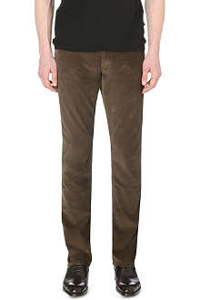 RALPH LAUREN BLACK LABEL Straight-fit corduroy trousers 32