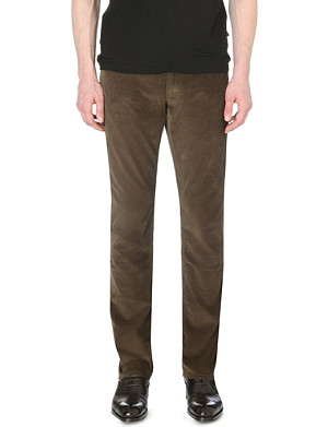 RALPH LAUREN BLACK LABEL Straight-fit corduroy trousers 32