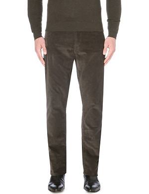 RALPH LAUREN BLACK LABEL Corduroy straight-fit trousers