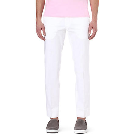 RALPH LAUREN BLACK LABEL James cotton-blend trousers (White