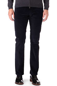 RALPH LAUREN BLACK LABEL Regular-fit straight corduroy trousers