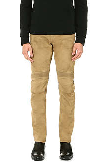 RALPH LAUREN BLACK LABEL Piston Moto slim-fit straight jeans 32