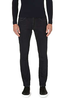 RALPH LAUREN BLACK LABEL Distressed slim-fit straight jeans