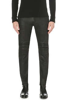RALPH LAUREN BLACK LABEL Piston Moto slim-fit tapered jeans 32
