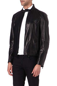 RALPH LAUREN BLACK LABEL Cafe biker jacket
