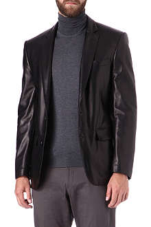 RALPH LAUREN BLACK LABEL Anthony leather blazer