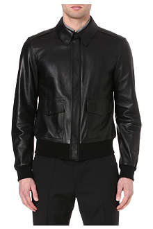 RALPH LAUREN BLACK LABEL Leather bomber jacket
