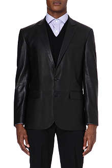 RALPH LAUREN BLACK LABEL Modern Anthony leather blazer