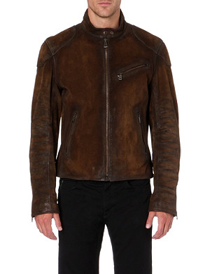 RALPH LAUREN BLACK LABEL Suede jacket