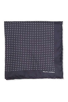 RALPH LAUREN BLACK LABEL Polka dot pocket square