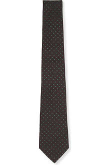 RALPH LAUREN BLACK LABEL Parquet silk tie