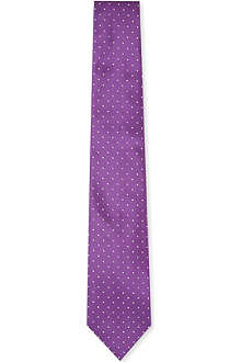 RALPH LAUREN BLACK LABEL Polka-dot silk tie