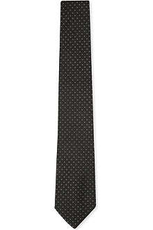 RALPH LAUREN BLACK LABEL Geometric silk tie