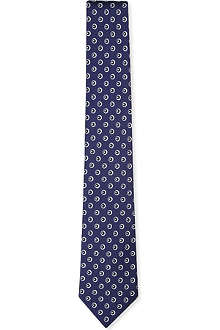 RALPH LAUREN BLACK LABEL Dot-print silk tie