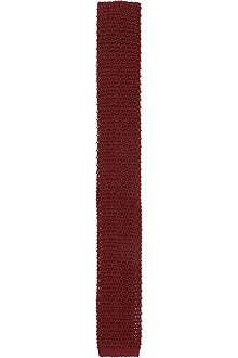 RALPH LAUREN BLACK LABEL Red textured tie