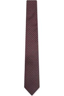 RALPH LAUREN BLACK LABEL Graphic silk tie